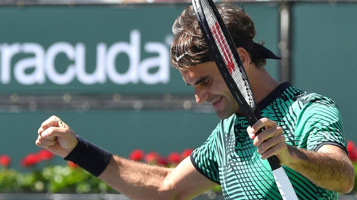 Federer beats Wawrinka, claims fifth Indian Wells title