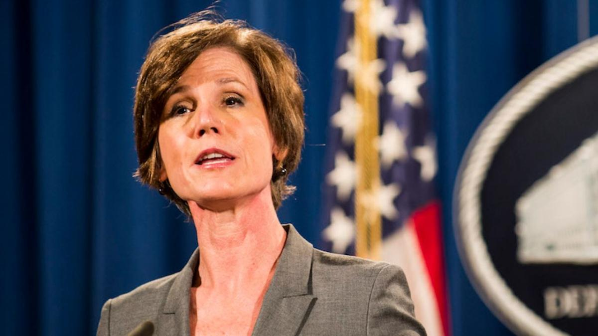 Acting Attorney General fired for defying Trump on immigration ban