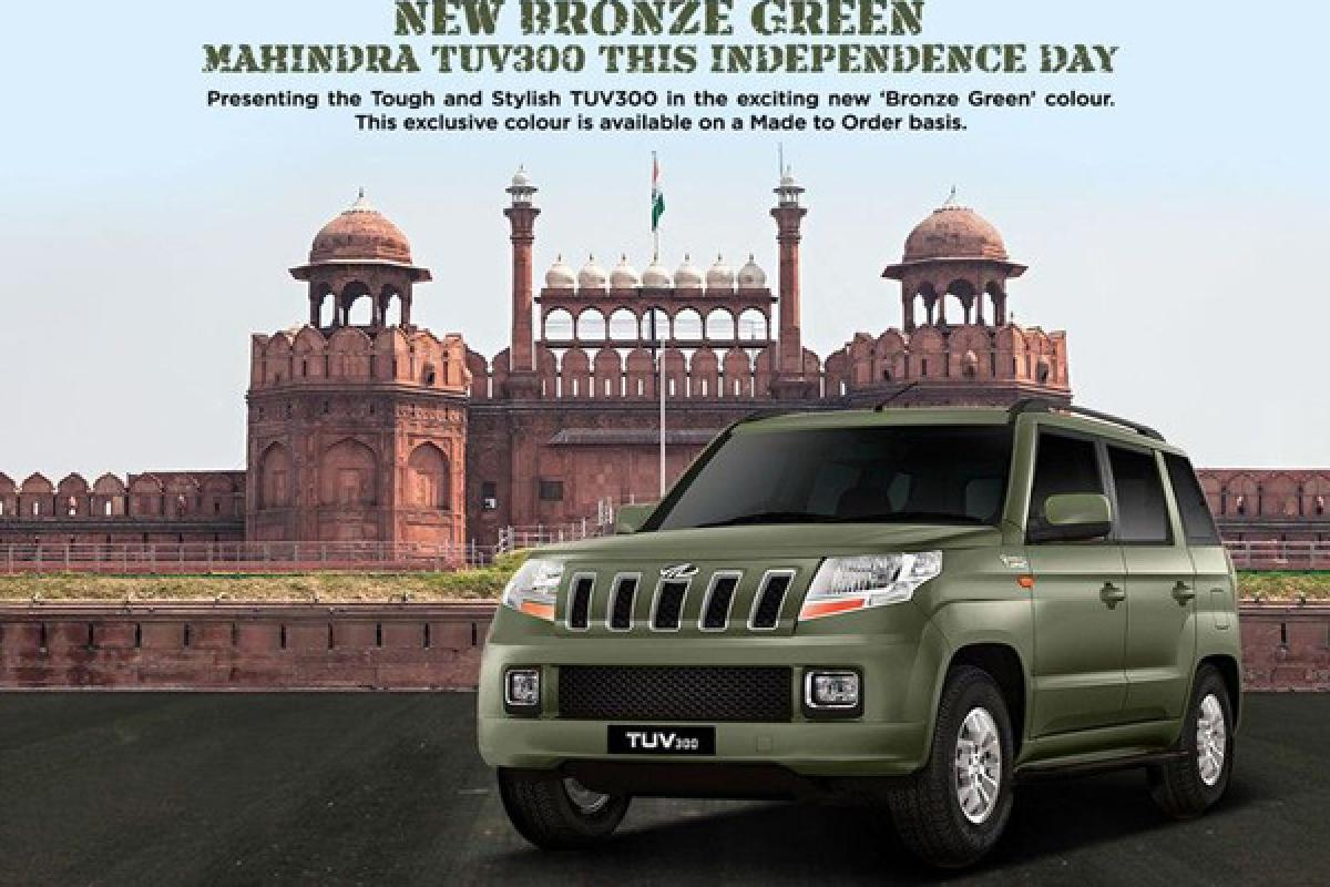 Mahindra Introduces Bronze Green TUV300 On Independence Day