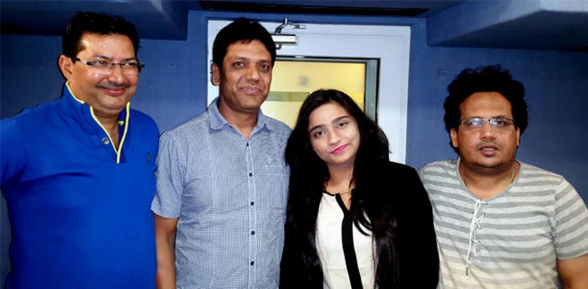 Banno singer records sad song for Krushna Abhishek film Jhunjhunaa at LM Studio, Andheri