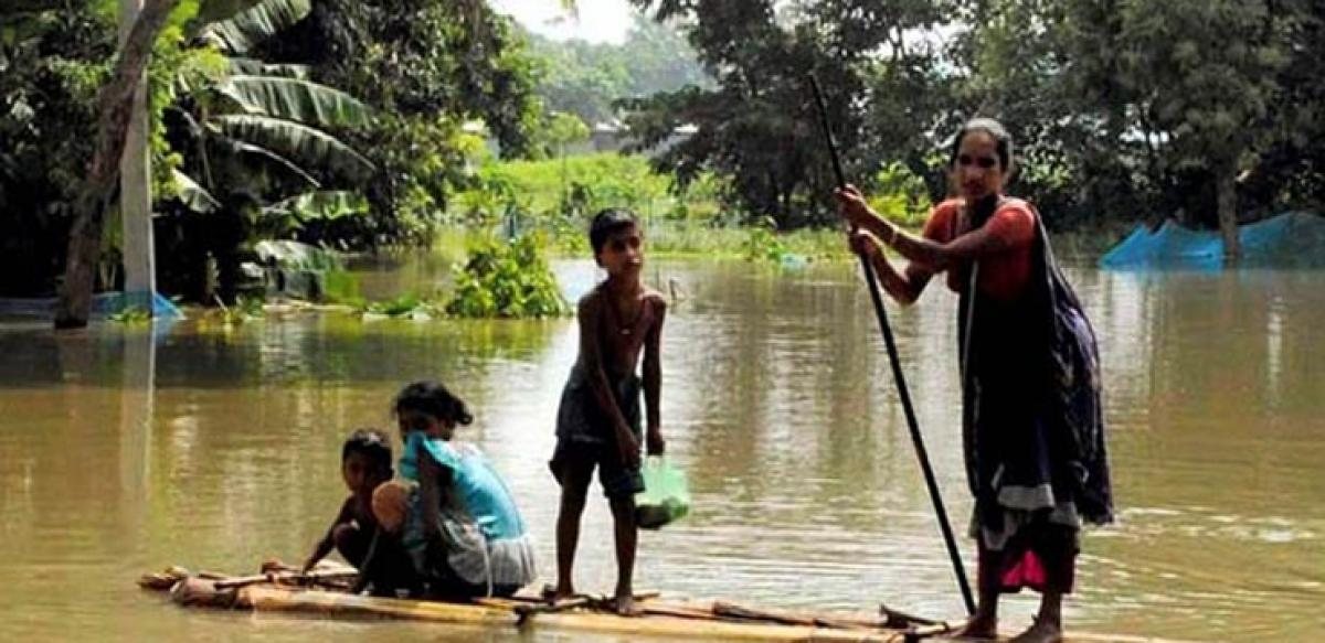 Fresh flood in caused by torrential rains in Assam hits over 2 lakh people