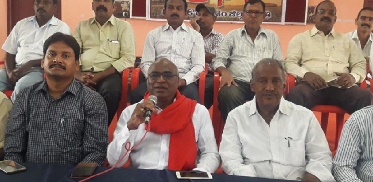 CPI's anti-govt public meeting on August 1 in Kothagudem