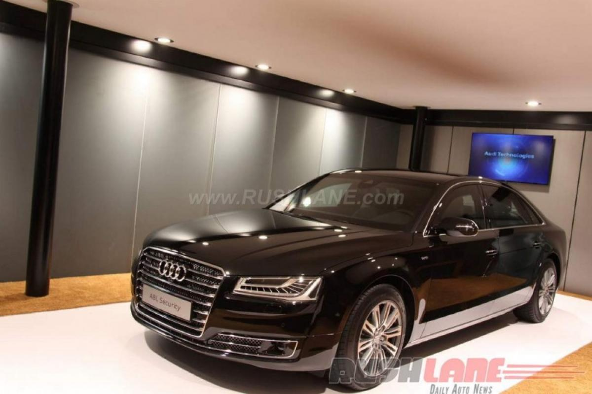 Audi A8 L security price in India at Rs 9.15 crore Auto Expo 2016