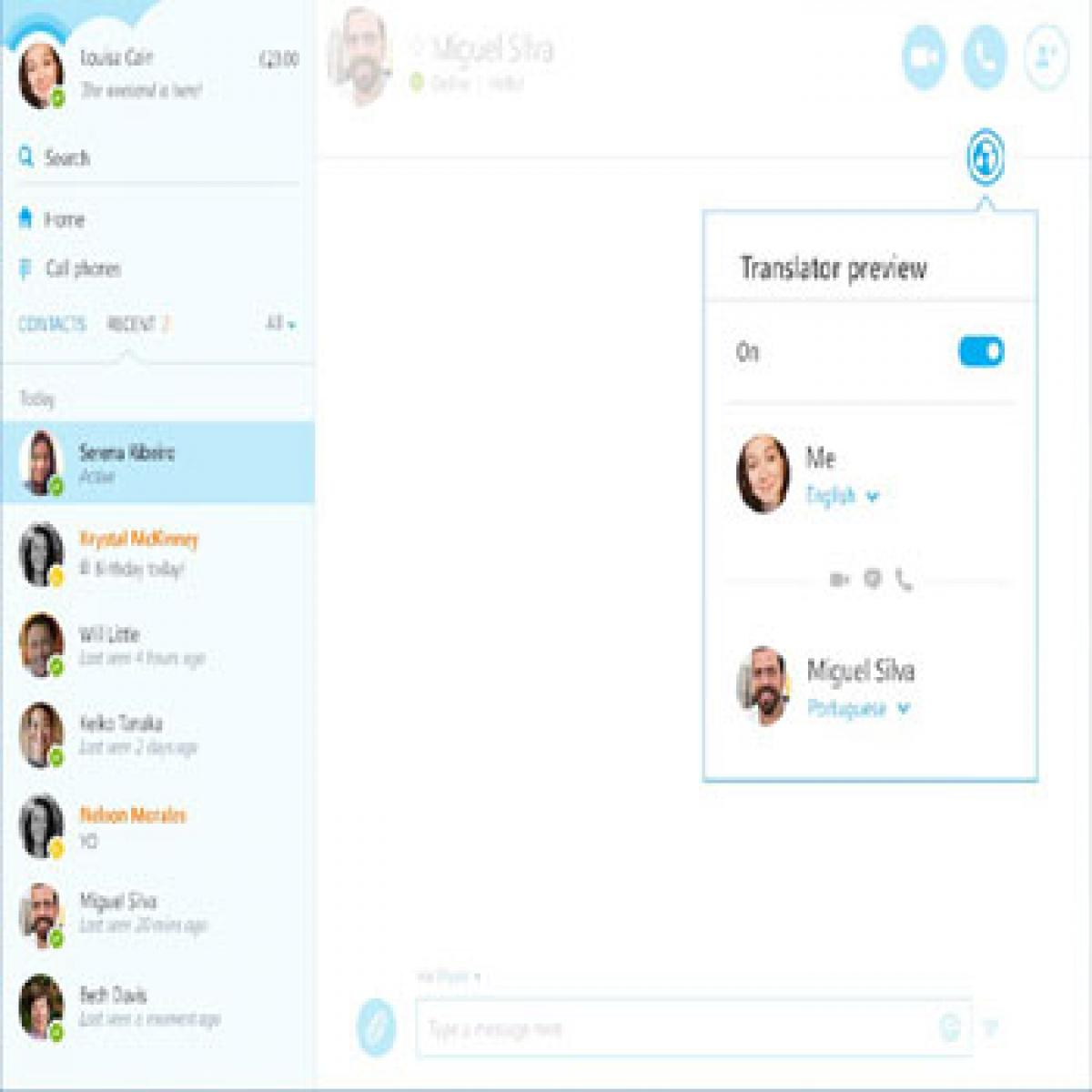 Skype for Windows gets real time voice
