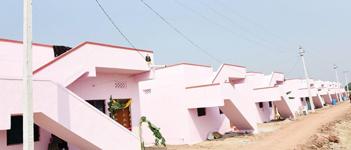 Minister inaugurates 20 2BHK in Nijalapur