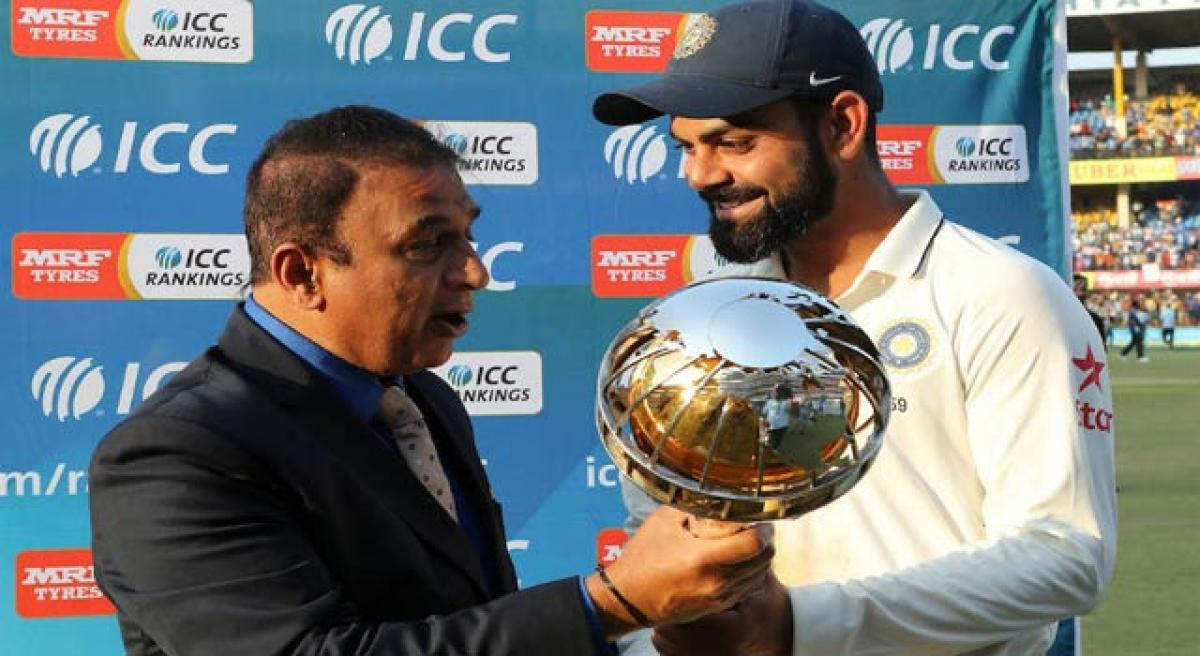 Team India receives ICC Test mace