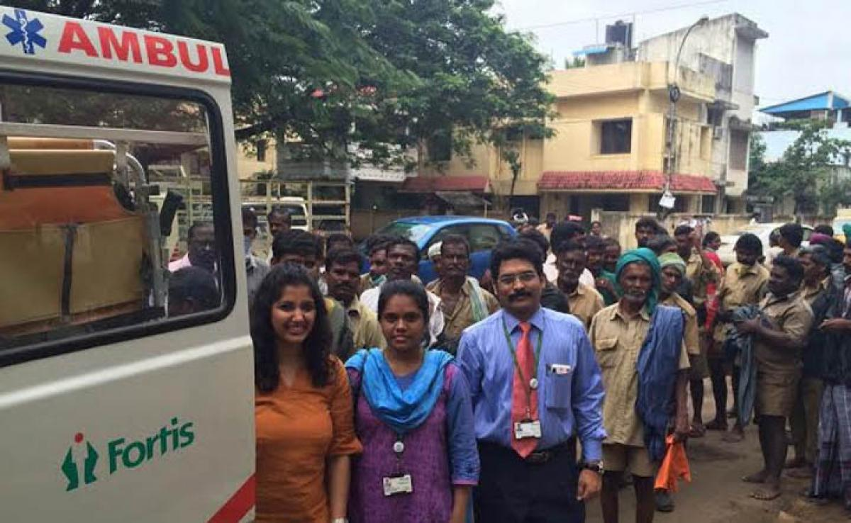 Fortis Hospital, Vadapalani reaches out to Conservation Workers
