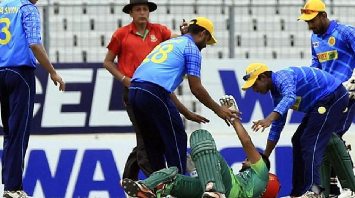 Bangladesh cricketer hospitalised after struck by a bouncer