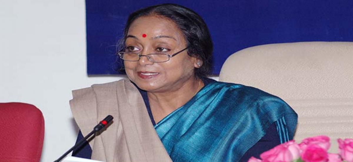 Meira Kumar to visit Telangana on July 3