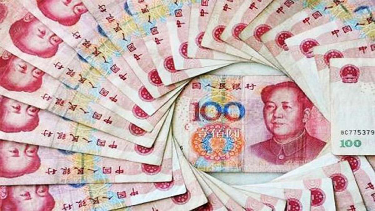 Chinese yuan weakens