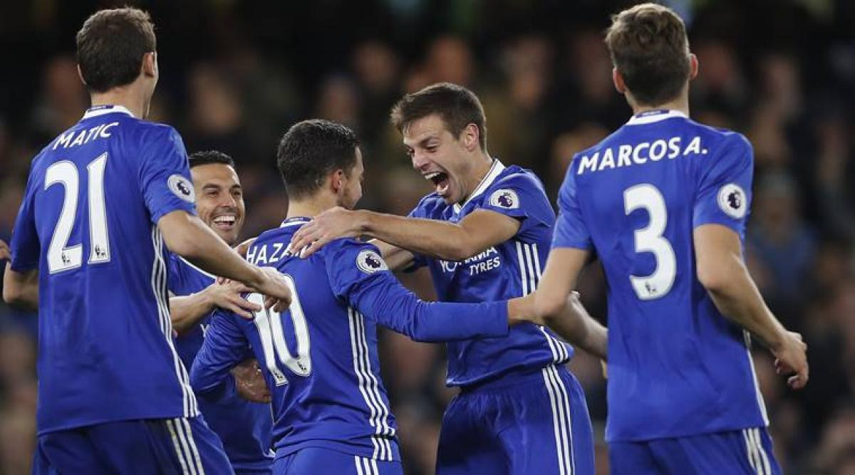 Hazard leads Chelseas victory over Everton 5-0