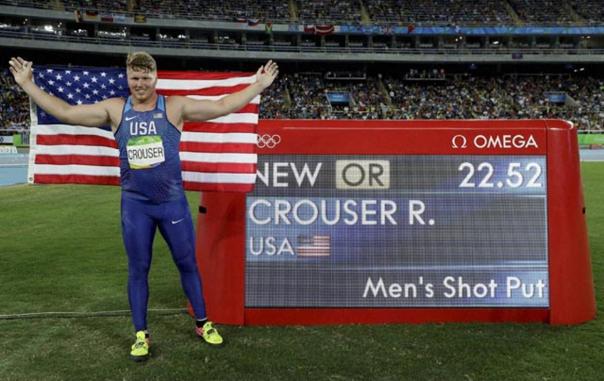Crouser sets Olympic record