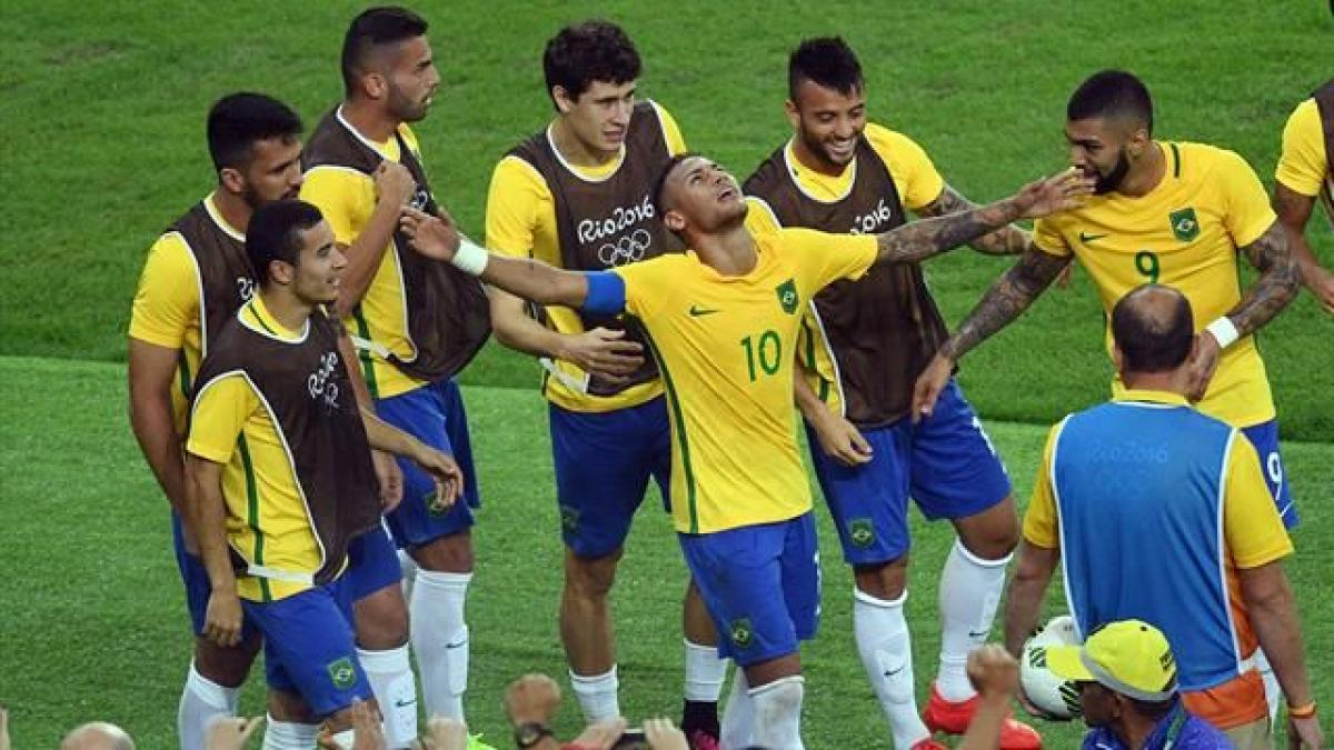 Neymars winning penalty land Brazil first football gold