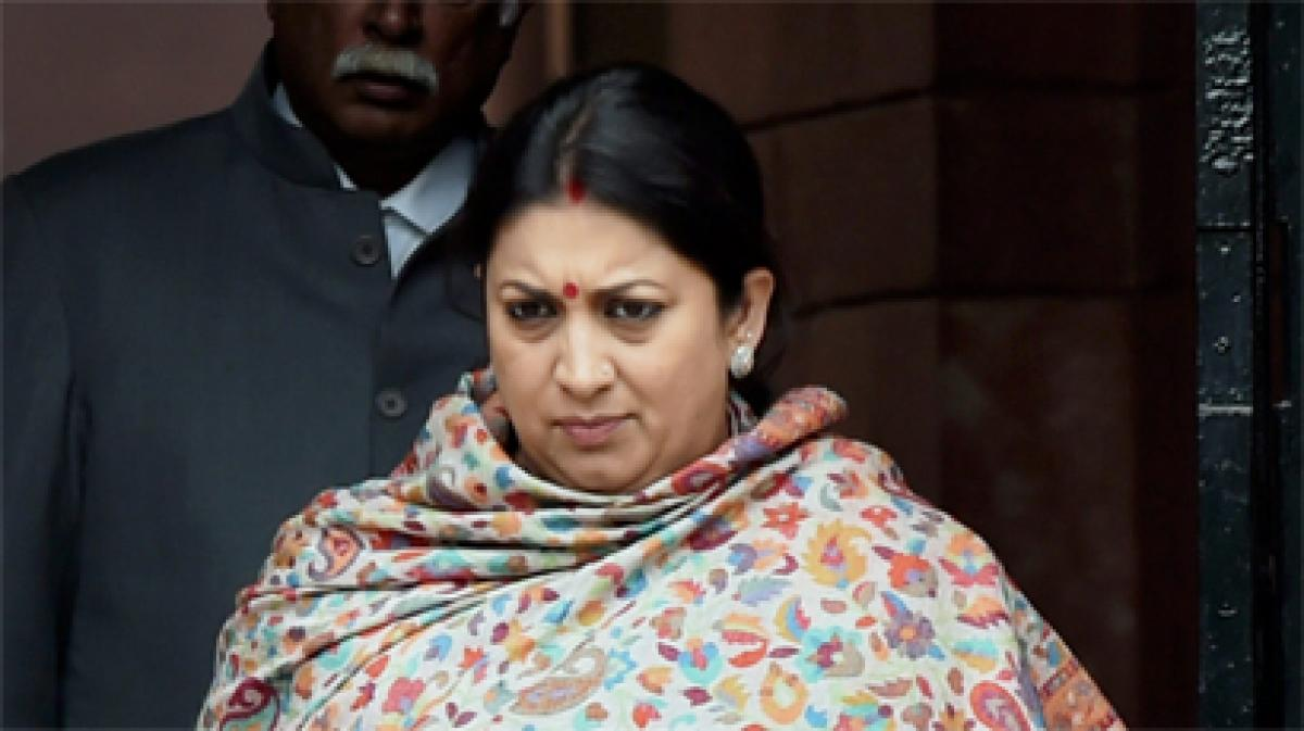 Why is TMC doing votebank politics over Dalit students death, asks Smriti