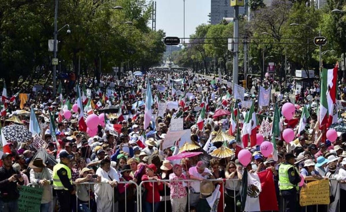 Thousands Of Mexicans Protest Against Donald Trump