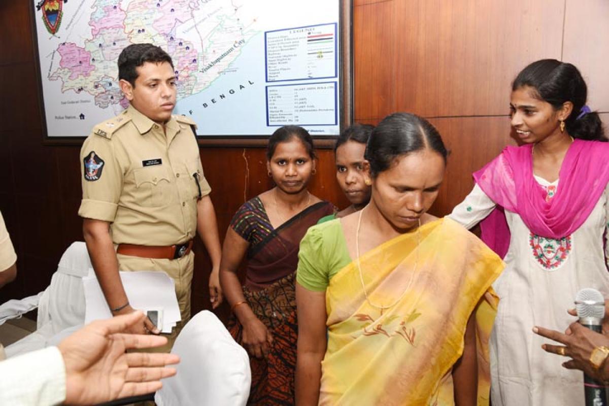 3 women Maoists surrender in Vizag