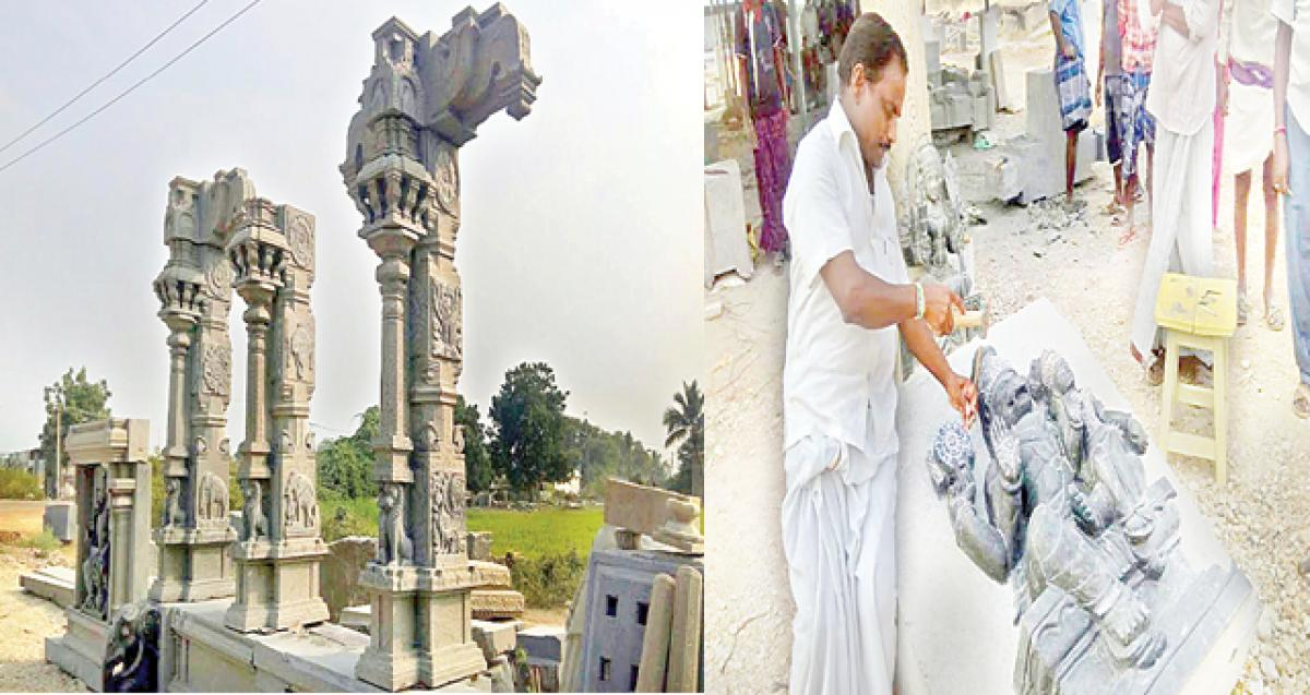 Yadadri temple: Sculpting of idols goes at brisk pace
