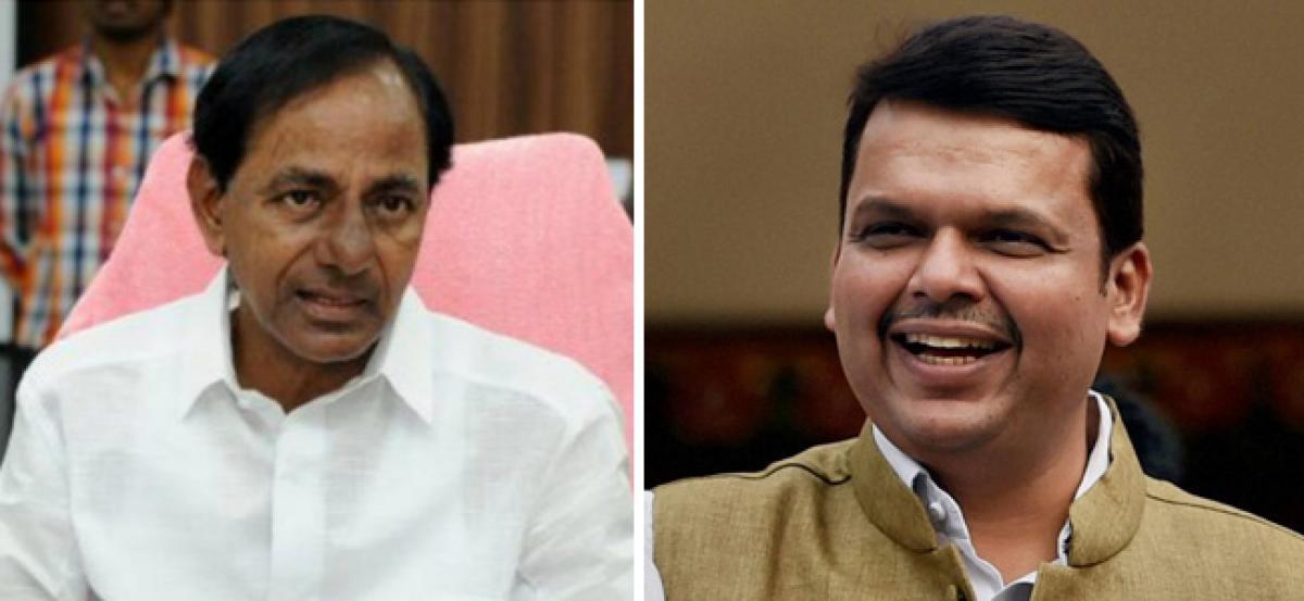 Telangana CM speaks to Fadnavis after chopper mishap