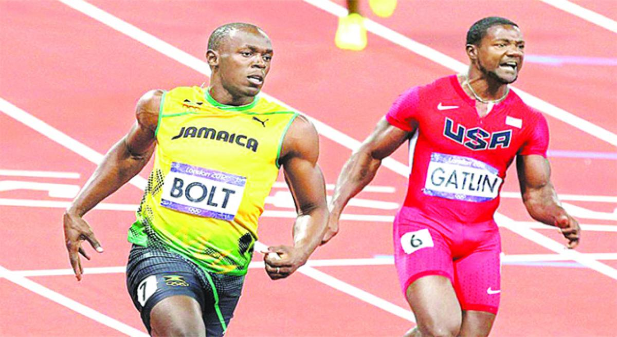 Bolt, Gatlin renew 100m battle
