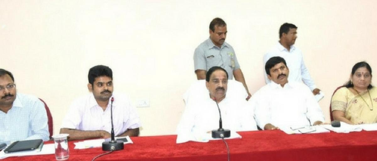 Speed up collectorates construction; Tummala instructs officials