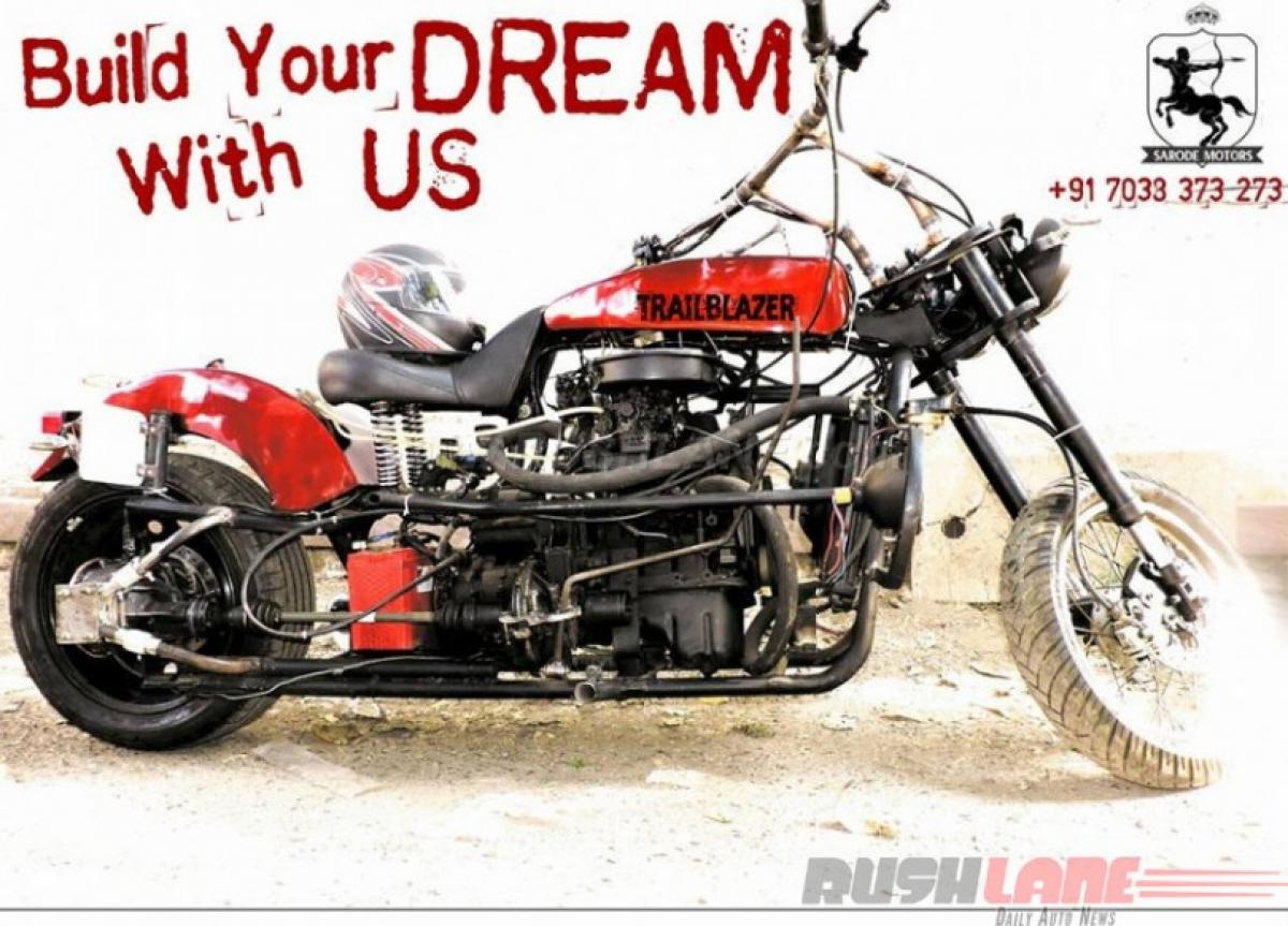 Mechanical engineer uses Maruti 800 parts to build sexy motorcycle