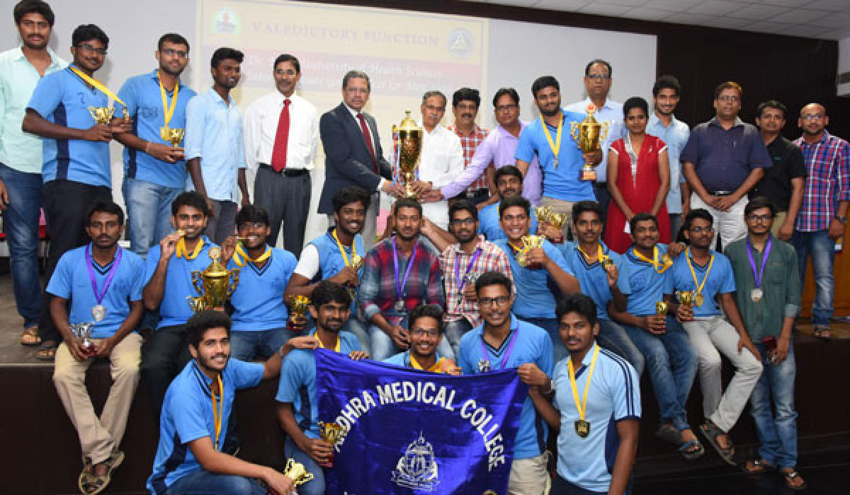 Andhra Medical College bags overall championship