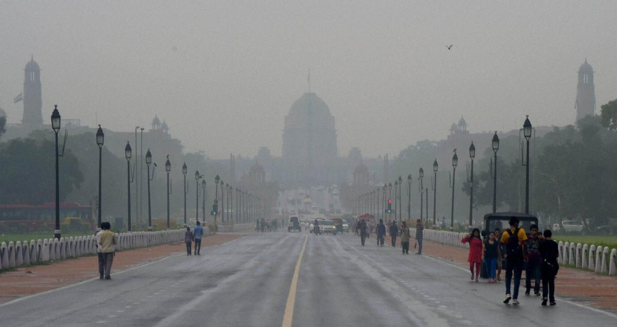 Partly cloudy Sunday morning in Delhi