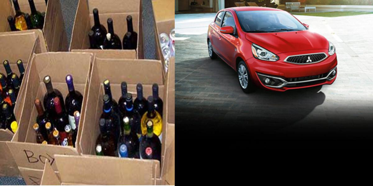 Cops seize vehicles, liquor