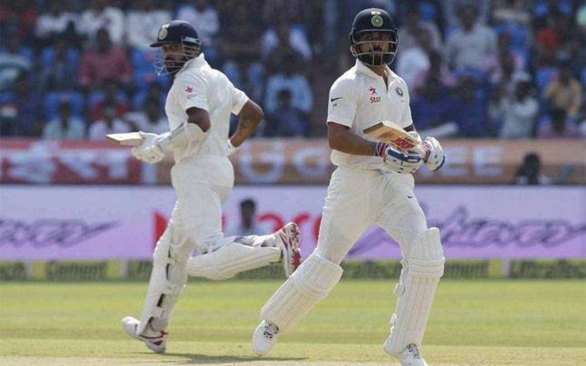 Vijay, Kohli post centuries; India reach 356 for 3 at stumps