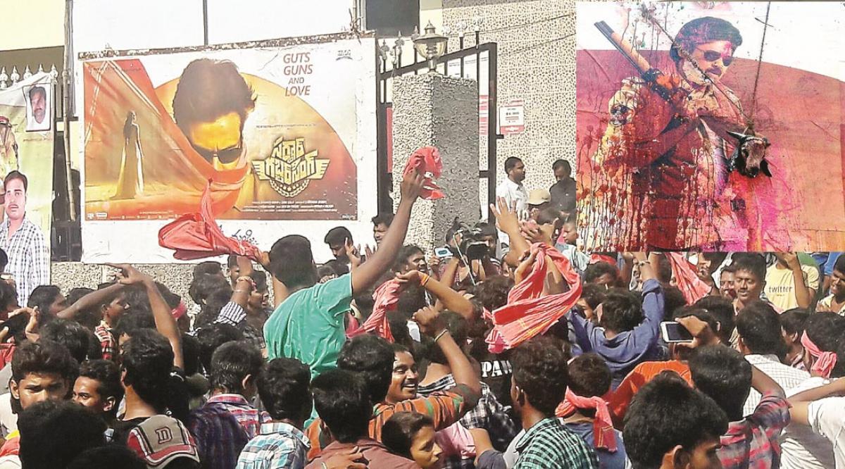 Fans sacrifice goat for Sardaar