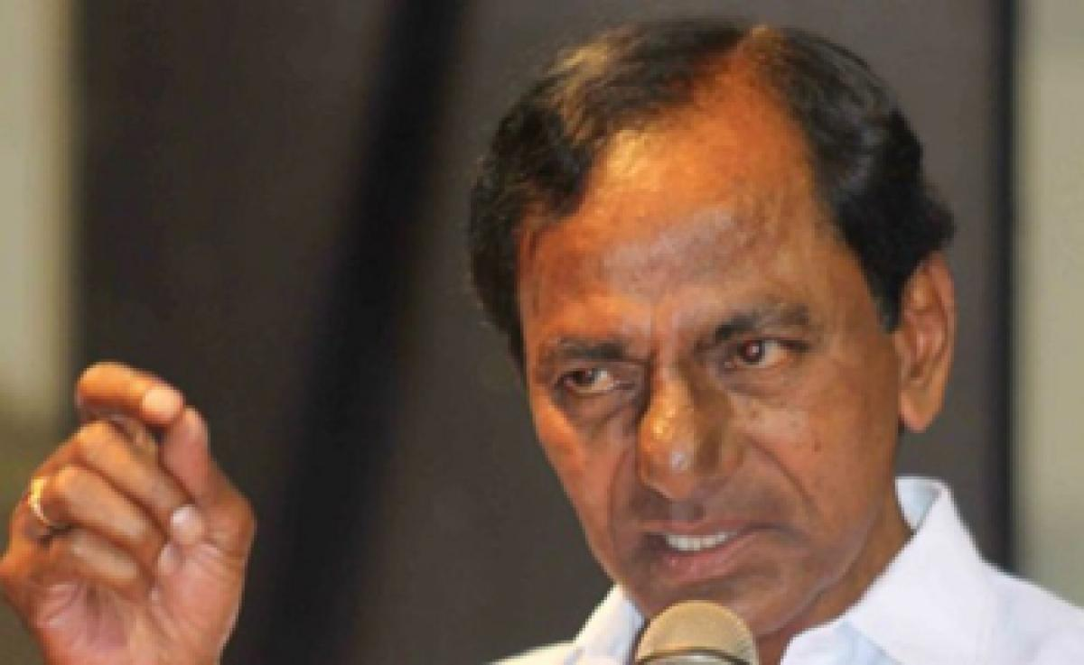 KCR upset with Opposition over continuous protests