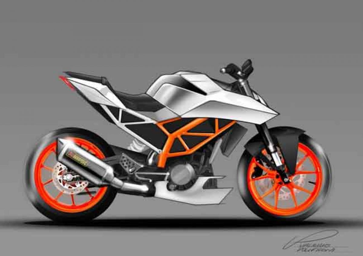 Check out sketches of 2017 KTM Duke 390