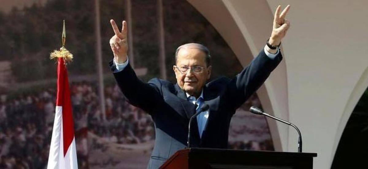 Lebanese president calls for safe zones in Syria for refugees