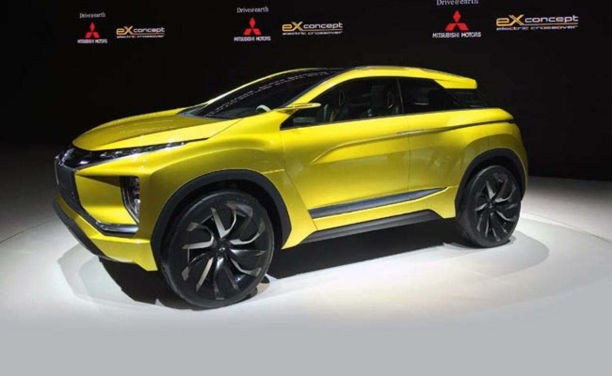 Mitsubishi Teases Small Crossover MPV Concept