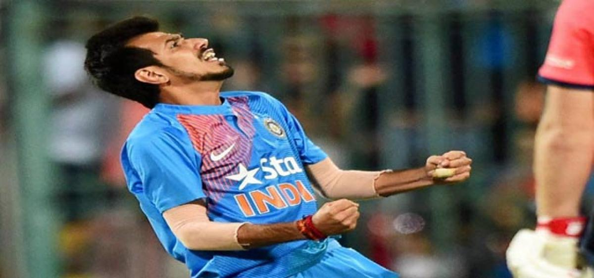 Chahal wins series for Men in Blue