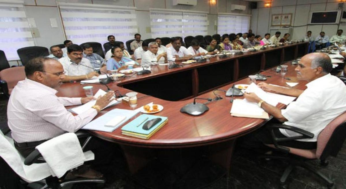Complete pending works in time, TTD officials told.