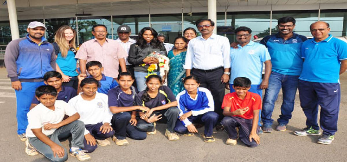 Krishna District Cricket Association welcomes Meghana