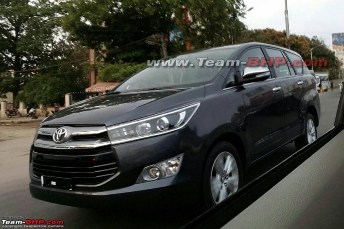 Spotted: Toyota Innova Crysta in Black and Silver variants