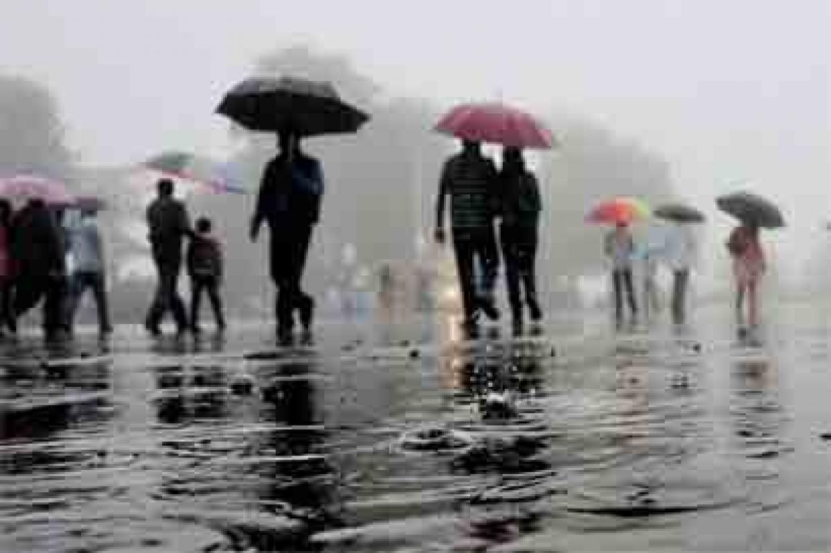 Rainy morning in Delhi