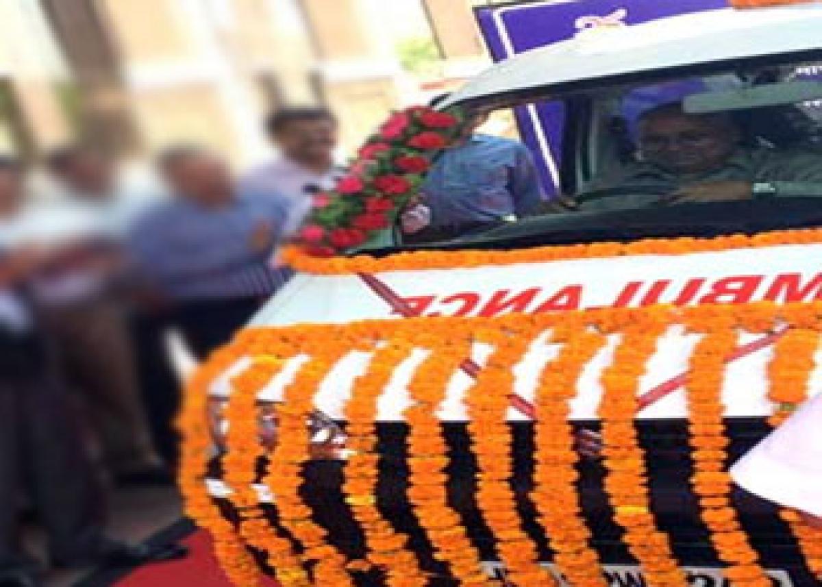 NTPC donates ambulance to hospital