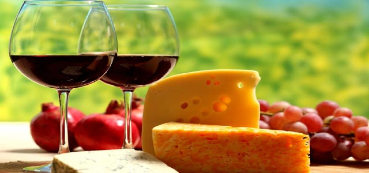 Cheese can enhance taste of wine
