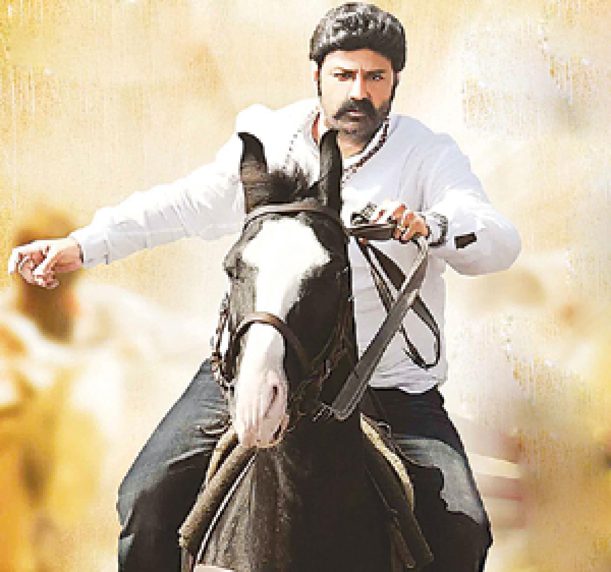 Balayya trains in horse-riding