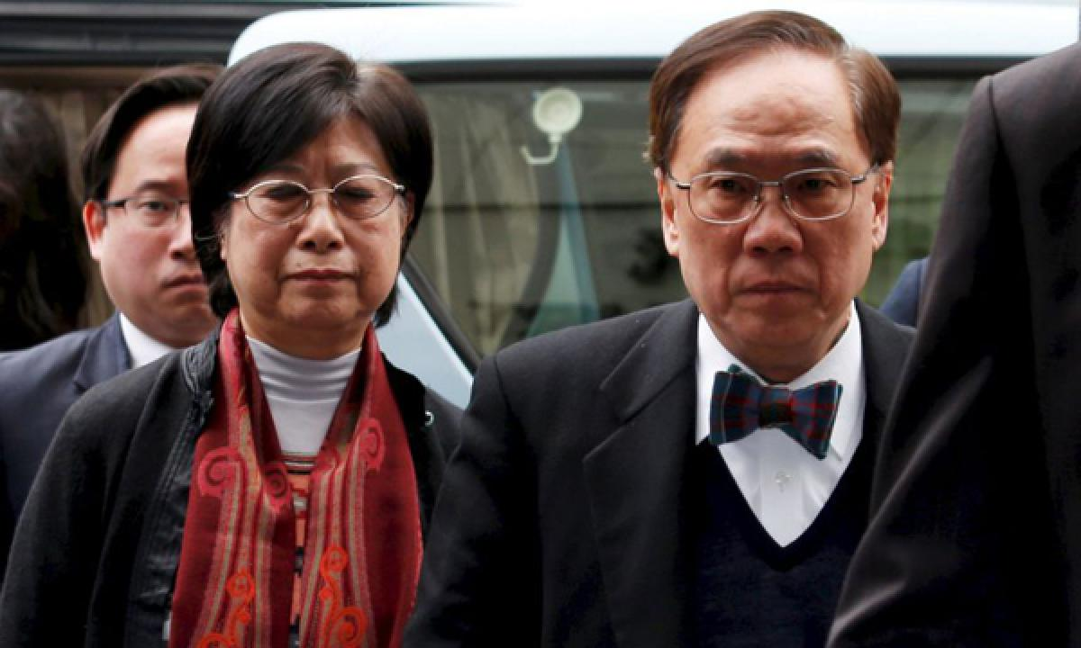 Former Hong Kong leader sentenced to 20 months in prison for misconduct
