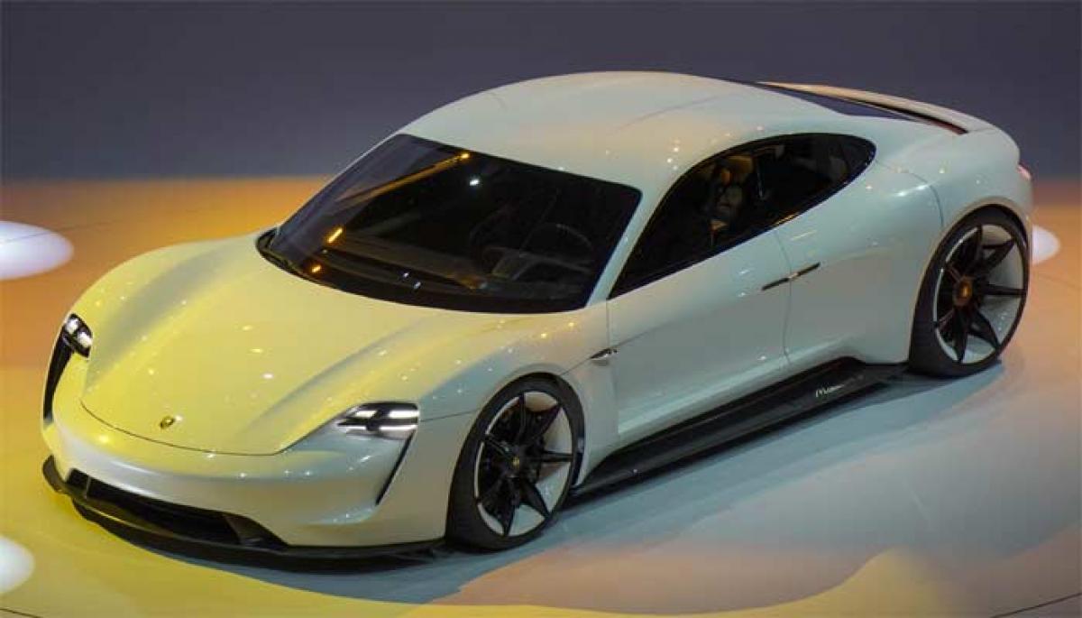 Porsche unveils electric Mission E concept