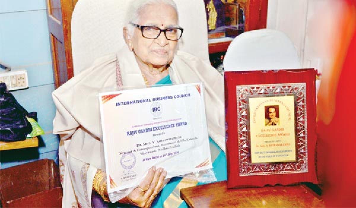 Koteswaramma gets International Business Council Award