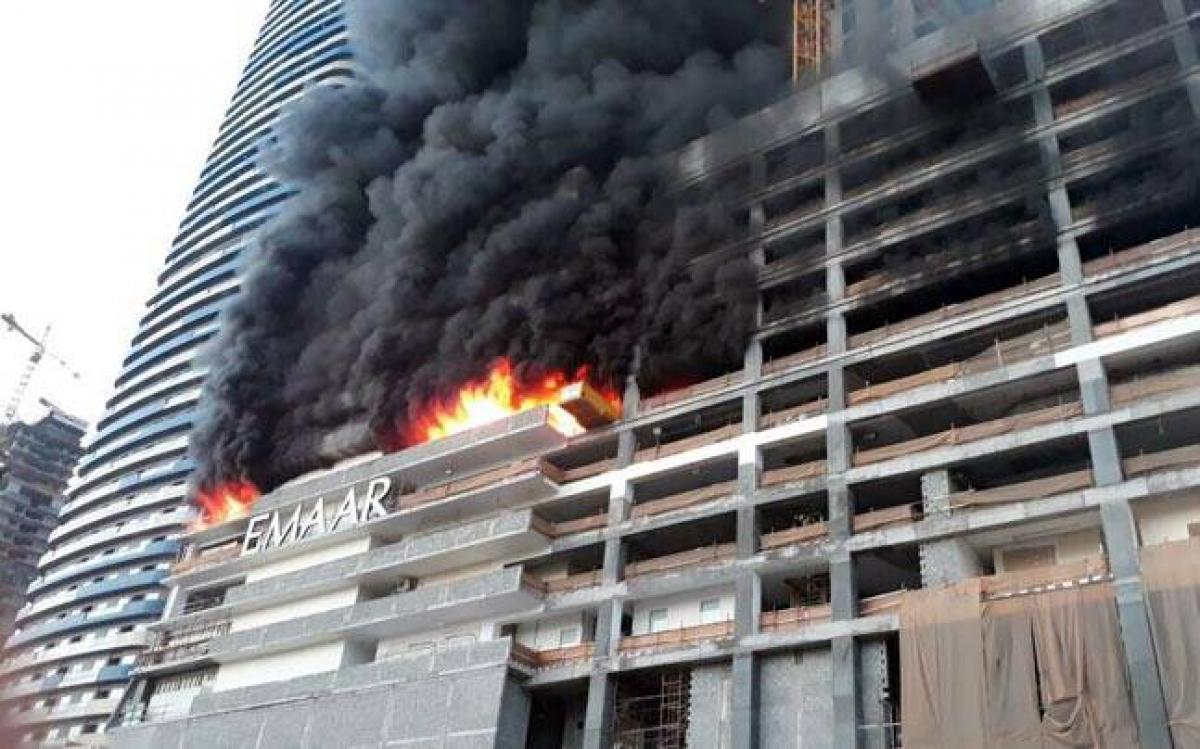 Fire breaks out in Dubai building near Burj Khalifa