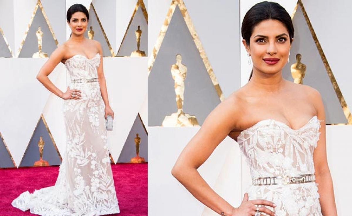 PeeCee wears Lebanese designer gown to Oscars