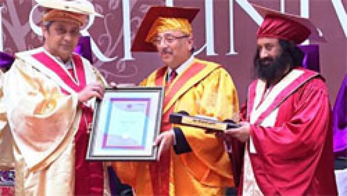 Honorary doctorate for Mahesh Gupta, Founder Chairman, Kent RO