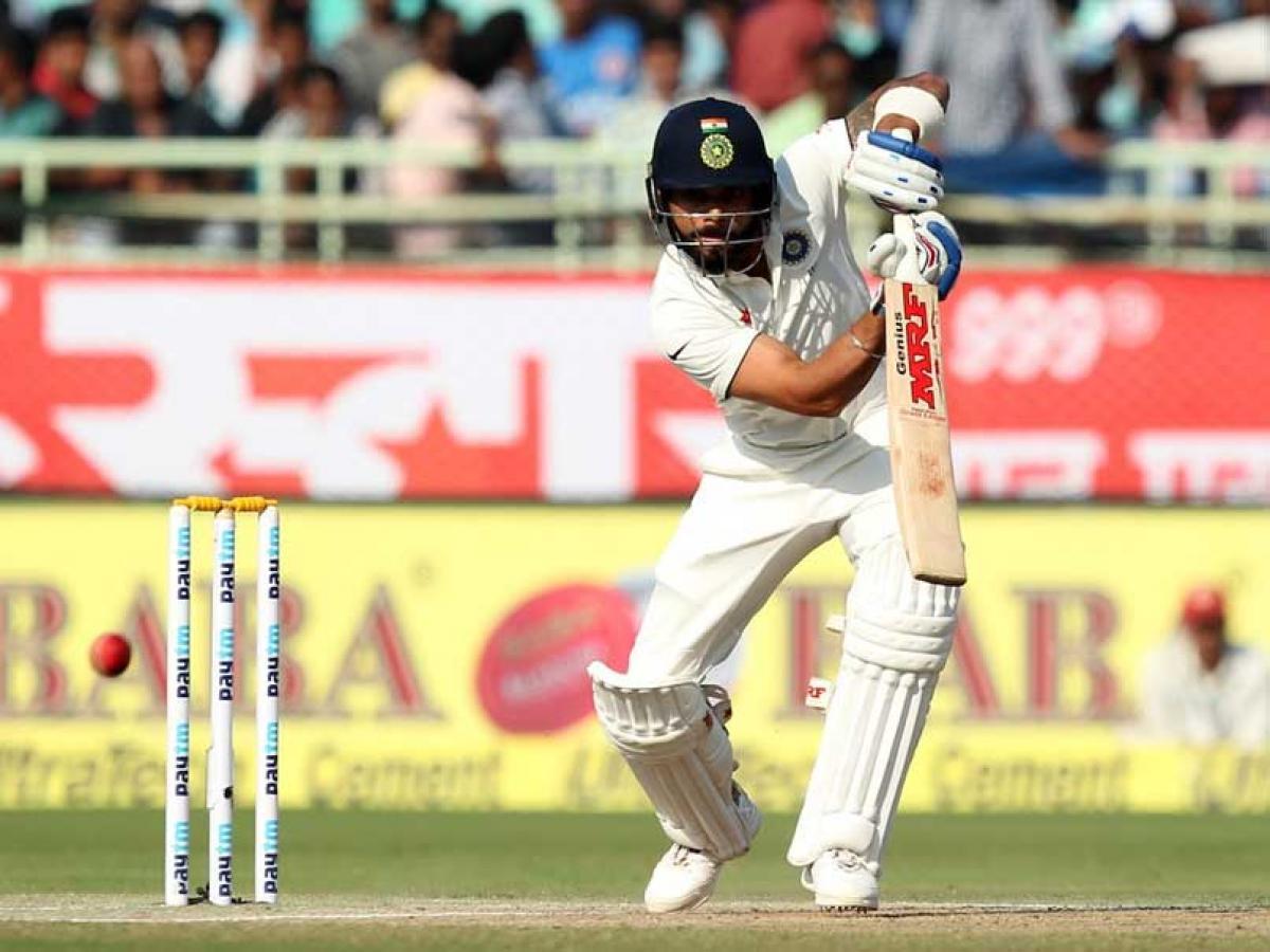 Kohli, Jadeja hold the innings for India; 348/6 at tea