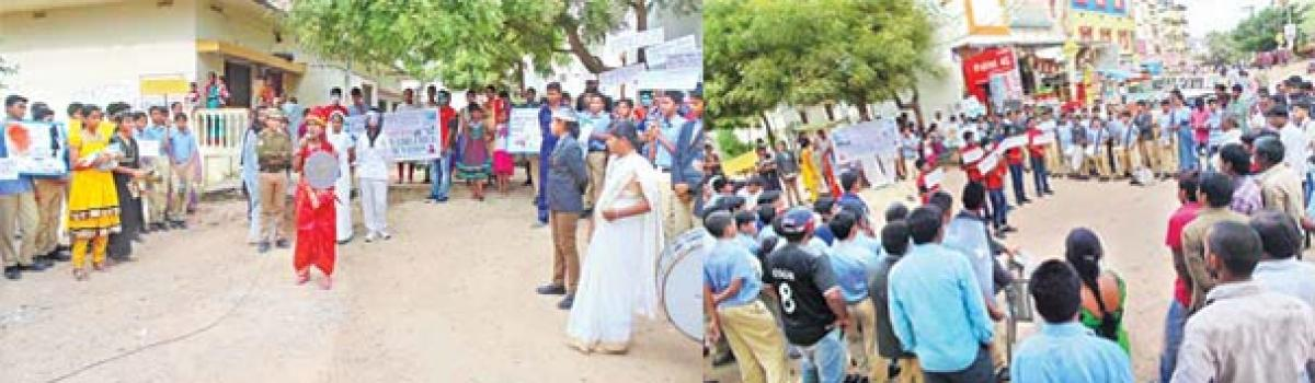 Students march for girl-child